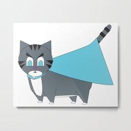 Super(angry) Kitty Metal Print