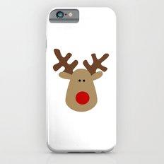 Christmas Reindeer-White Slim Case iPhone 6s