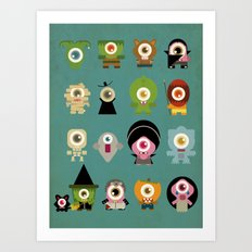 monsters nightmare Art Print