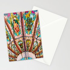 Victorian Carousel Swings Art Detail Stationery Cards