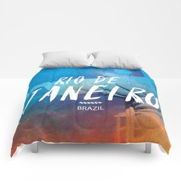 Corcovado, Rio de Janeiro, Brazil, poster Comforters