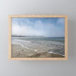 Fog rolling in on Niles Beach 5-9-18 Framed Mini Art Print