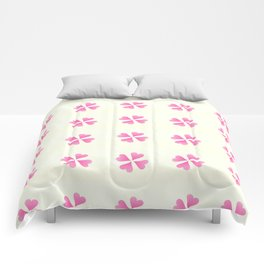 heart 13 – Heart flower –  Pink and yellow Comforters
