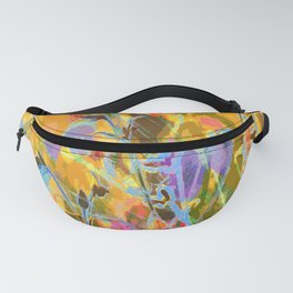 Butterflies flying in meadow - lovely colors and details - summer mood Fanny Pack