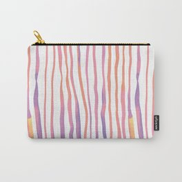 Vertical watercolor lines - pink and ultraviolet Carry-All Pouch