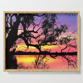 Lake Bonney Sunset Serving Tray