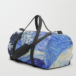 "Hokusai,""The Great Wave off Kanagawa"" + van Gogh,""Starry night"" Duffle Bag"