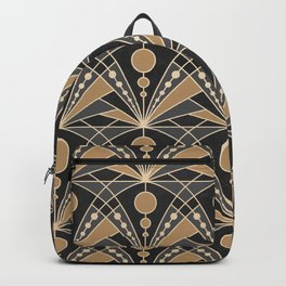 Art Deco (Dark gray and Sand) Backpack