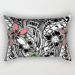 Polynesian Flora Touch Of Color Rectangular Pillow