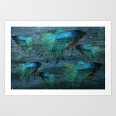 Blue Beta Test Art Print