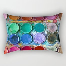 watercolor palette Digital painting Rectangular Pillow