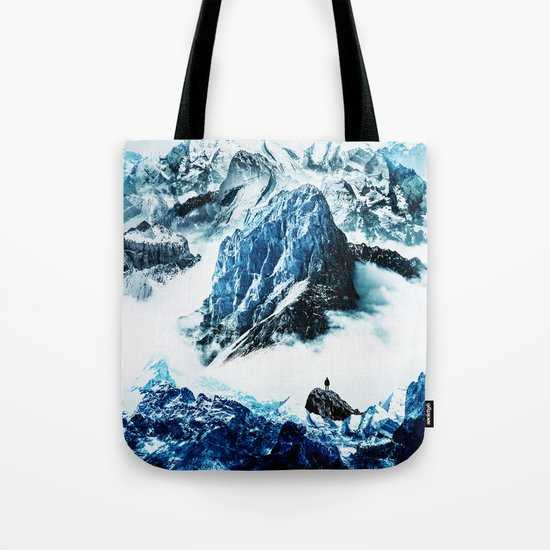 Frozen isolation Tote Bag