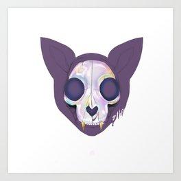 Cat Skeleton Art Print