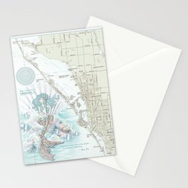 "Sarasota ""Anais Nin"" Mermaid quote area map Stationery Cards"