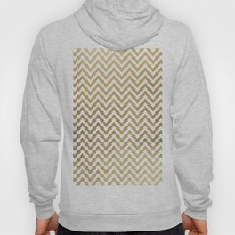 Elegant modern geometrical faux gold chevron pattern Hoody