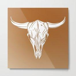 Skull beef head Metal Print