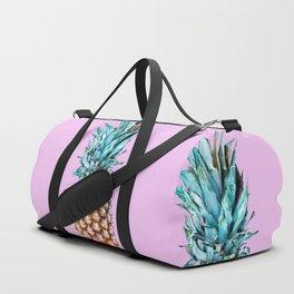 Pineapple On A Pink Background #decor #society6 #buyart Duffle Bag