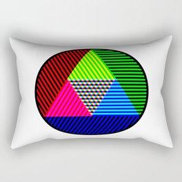 Tricolour Triangle Testcard Rectangular Pillow