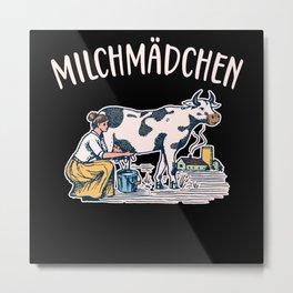 Milchmädchen Milchkanne Landwirtin Metal Print