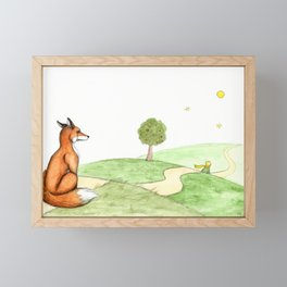 The little Prince and the Fox Framed Mini Art Print