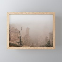 Bryce Canyon Obscured Framed Mini Art Print