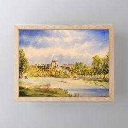 Windsor Castle And River Thames Framed Mini Art Print
