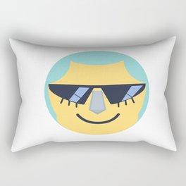 Franky Emoji Design Rectangular Pillow