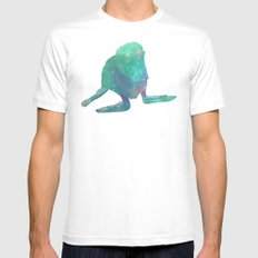 Albino Seal From The Cosmos MEDIUM Mens Fitted Tee White