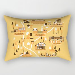 Survivors Map Rectangular Pillow