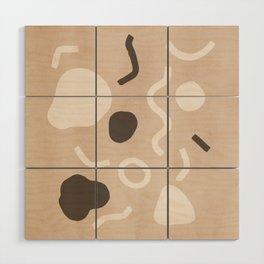 Abstract Confetti Wood Wall Art