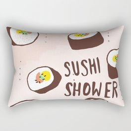 Sushi Shower Rectangular Pillow