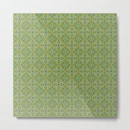Techy doodle - repeating toolbox pattern - green Metal Print