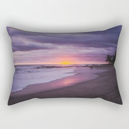 Vibrant purple and pink sunset on a paradise beach in Costa Rica Rectangular Pillow