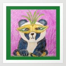 Panda Gras Art Print
