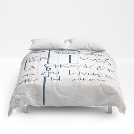 For I was a stranger and you invited Me in. Religious illustration Comforters
