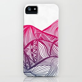 Lines in the mountains 05 iPhone Case
