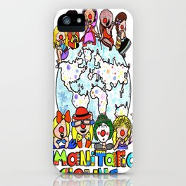 Humanitarian Clowns iPhone Case