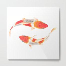 Koi fish watercolor painting Metal Print