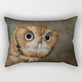 Portrait of An Eastern Screech Owl Rectangular Pillow
