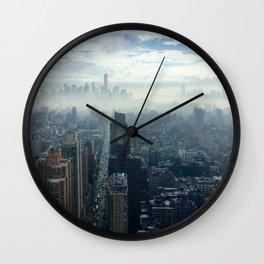 More Fog Less Smog Wall Clock