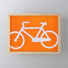 Bicycle in orange Framed Mini Art Print