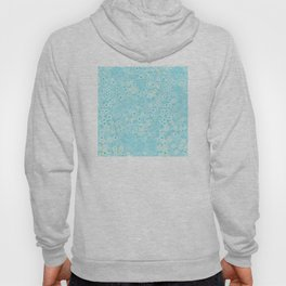 Forget Me Knot - Little Flowers on aqua Hoody