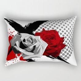 Trash Polka Roses Rectangular Pillow