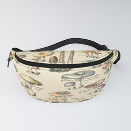 Trippy Vintage Mushroom Chart // Champignons by Adolphe Millot XL 19th Century Science Artwork Fanny Pack