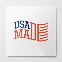 USA MADE Metal Print