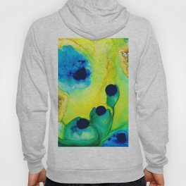 New Life - Green and Blue Art by Sharon Cummings Hoody