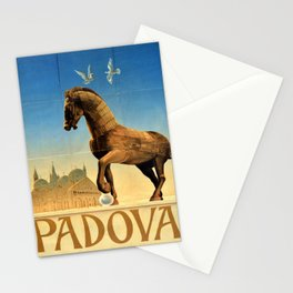 Affiche Travel Poster Padova Padua Italy ENIT Stationery Cards