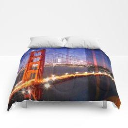 City Art Golden Gate Bridge Composing Comforters