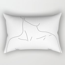 Neckline collar bones drawing - Gwen Rectangular Pillow
