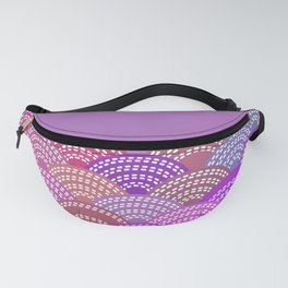 seigaiha wave lilac purple pink colors abstract scales Fanny Pack